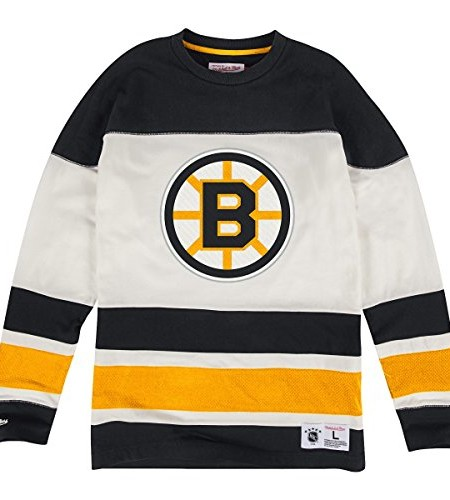 Boston-Bruins-Mitchell-Ness-NHL-On-the-Fly-Vintage-Long-Sleeve-Jersey-Trikot-0