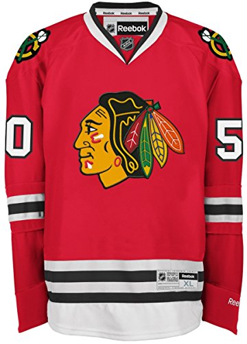Corey-Crawford-Chicago-Blackhawks-Reebok-NHL-Premier-Jersey-Trikot-Red-0