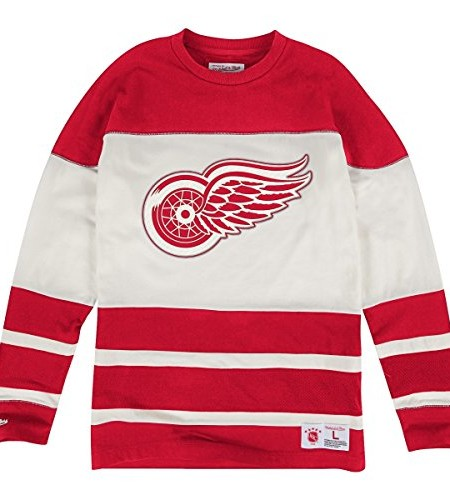 Detroit-Red-Wings-Mitchell-Ness-NHL-On-the-Fly-Vintage-Long-Sleeve-Jersey-Trikot-0