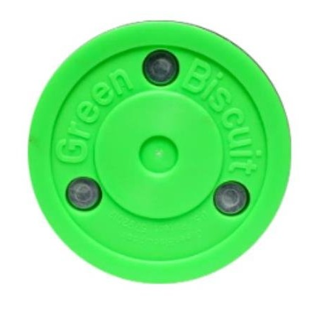Green-Biscuit-PASS-Trainingspuck-f-Eishockey-Hockey-Puck-Asphalt-0
