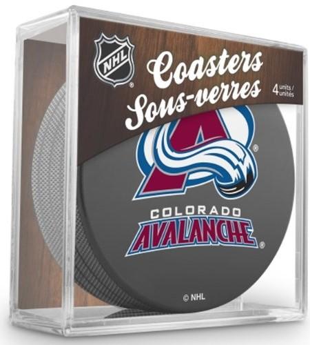 Sher-Wood-Colorado-Avalanche-NHL-Eishockey-Puck-Untersetzer-4er-Set-0