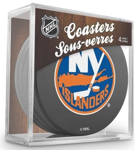 Sher-Wood-New-York-Islanders-NHL-Eishockey-Puck-Untersetzer-4er-Set-0