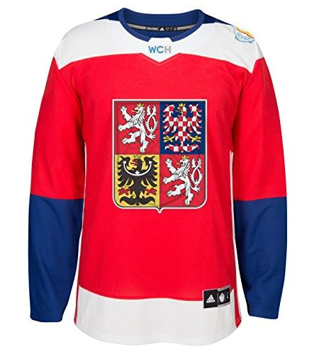 Team-Czech-Republic-2016-World-Cup-of-Hockey-Adidas-Mens-Premier-Red-Jersey-Trikot-0