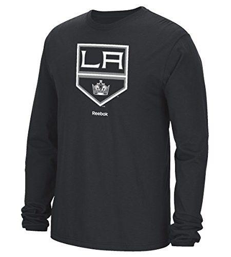 Los-Angeles-Kings-Reebok-NHL-Jersey-Trikot-Crest-Long-Sleeve-Mens-T-Shirt-0