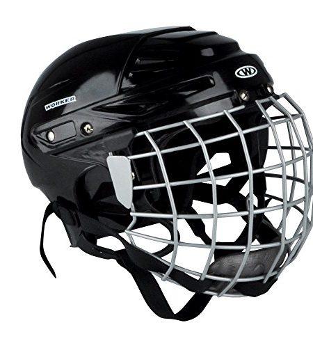 Eishockey-Helm-Kayro-Worker-schwarz-mit-Gesichtsschutz-Gitter-0
