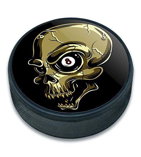 EISHOCKEY-Puck-Skulls-Skelett-0