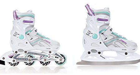 2in1-Schlittschuhe-Inline-Skates-Inliner-Raven-Pulse-WhiteBlueViolet-verstellbar-0