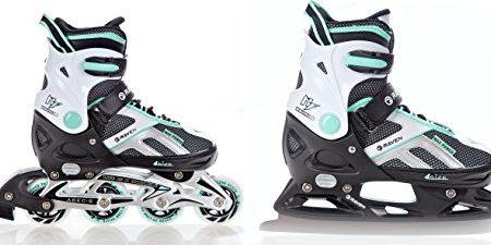 2in1-Schlittschuhe-Inline-Skates-Inliner-Raven-Pulse-BlackMint-verstellbar-0