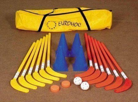 Eurohoc-Club-Senior-Hallenhockey-Komplettpaket-mit-Schlgern-Puks-Bllen-Beutel-0