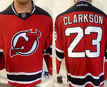 NHL-Eishockey-Trikotjersey-NEW-JERSEY-DEVILS-Clarkson-23-red-in-LARGE-L-0