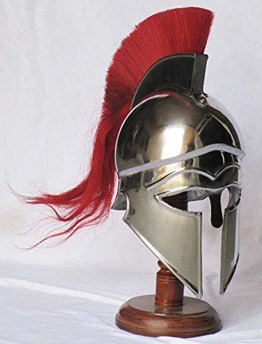 Shiv-TM-Shakti-Unternehmen-Mittelalter-Griechisch-Corinthian-Armour-Helm-mit-Rot-Plume-Knight-Spartan-Helm-Replica-0
