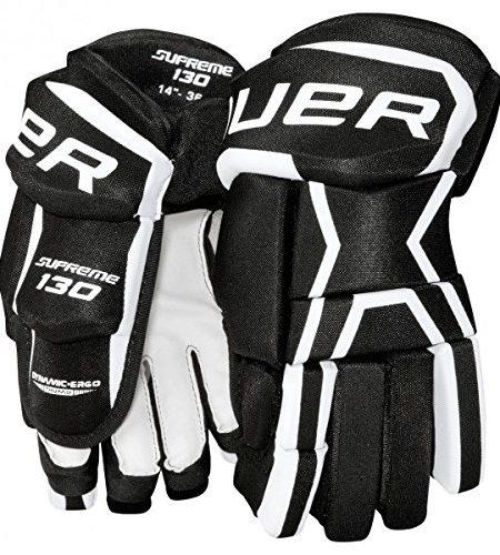 Bauer-Supreme-130-Eishockey-Schutzhandschuhe-Junior-SchwarzWei-0