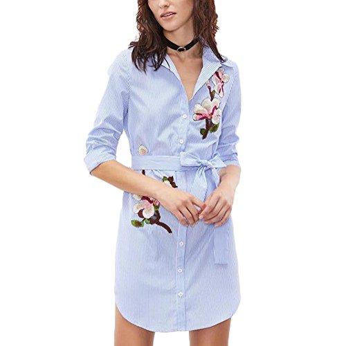 damen hemd elegant frauen l ssige bestickt bluse tops kurze rmel kleid schlittschuhe kaufen. Black Bedroom Furniture Sets. Home Design Ideas