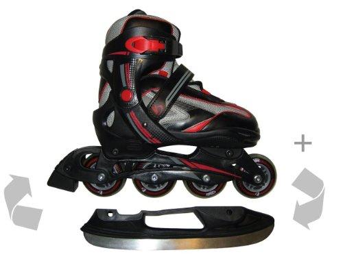 schlittschuhe inline skates kinder rollschuhe 32 35 2in1. Black Bedroom Furniture Sets. Home Design Ideas