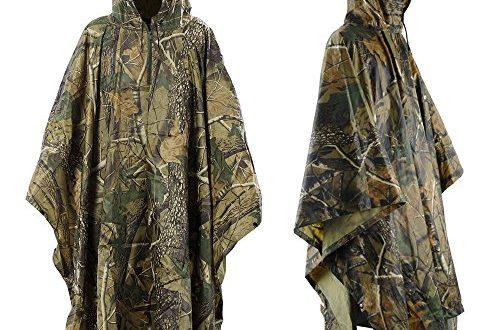 infreecs wasserdichter regenponcho regenmantel ponchos regenbekleidung camouflage rain poncho. Black Bedroom Furniture Sets. Home Design Ideas