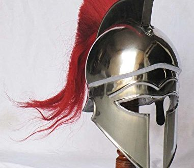 Shiv TM Shakti Unternehmen Mittelalter Griechisch Corinthian Armour Helm mit Rot Plume Knight Spartan Helm Replica